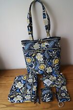 NWOT/NWT Rare Vera Bradley Ellie Blue Elephant Print Set/Lot - see images!