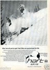 1969 Print Ad of Hart Skis Demonstration Team w Tom LeRoy & Hermann Goellner