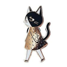 Bage Enamel Brooches Gift Christmas New Cat Walking Hard Jewelry Pins