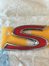 Toyota Corolla S Red Chrome Emblem Matrix Badge Rear Trunk Letter OEM 7544412b61