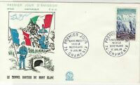 France 1965 Tunnel Route of Mont Blanc Pic 2x Cancels Stamps FDC Cover Ref 27463