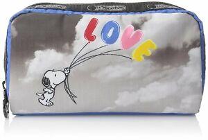 LeSportsac Women's Peanuts Snoopy X Rectangular Cosmetic Makeup Case Bag