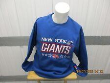 VINTAGE MAJESTIC NFL NEW YORK GIANTS LARGE SEWN BLUE CREWNECK SWEATER NWT
