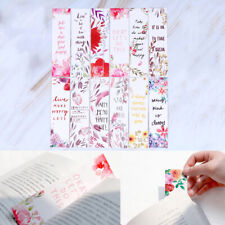 30pcs/set Flowers Bookmarks Message Cards Book Notes Paper Page Holder for Bo.jr