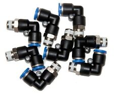 "10 Pieces  pneumatic 1/4"" Tube x 1/8"" NPT Male Swivel L push to connect  fitting"