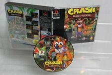 Crash Bandicoot PS1 Video Game 1996 Big Box Black Label PAL Playstation One