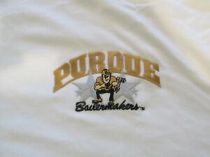 Purdue Boilermakers Men's Short Sleeve T-Shirt NWOT Embroidered  Size L Large
