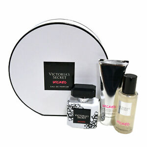 Victoria's Secret Wicked Gift Set 3 Piece Perfume Shimmer Mist Lotion New Nwt Vs