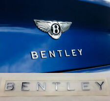 BENTLEY CONTINENTAL GT GTC CHROME TRUNK LOGO