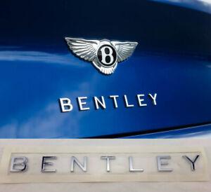 BENTLEY CONTINENTAL GT GTC CHROME TRUNK LOGO / 3SA853675
