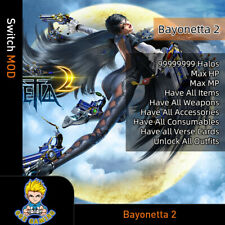 Bayonetta 2 (Switch Mod)- Max Halos/HP/MP/Items/Weapons/Accessories/Consumables
