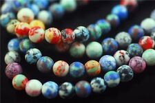 50pcs Round Glass Synthetic Millefiori Beads Charm Loose Jewelry Findings 8mm