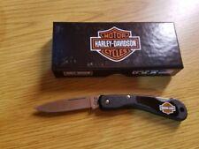 Couteau Harley Davidson Mini Blackhorn Lame Acier Inox Manche Zytel USA CA52177
