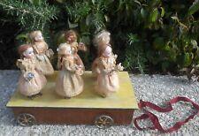Magnifique jouet à tirer poupées mignonnettes époque fin XIXème RARE !