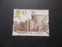 GB 1992 Castles Stamps~£5 Brown Value ~Very Fine Used~J~UK Seller