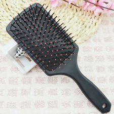 Pro Black Detangle Healthy Paddle Cushion Hairbrush Hair Loss Massage Scalp Comb