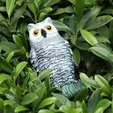 "10"" Realistic Decoy Pest Control Garden Scarer Scarecrow Owl Ornament"