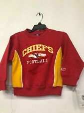 Kansas City Chiefs Reebok Embroidered Pullover Sweater Kids Size 5/6 Red Yellow
