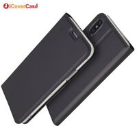 Magnetic PU Leather Flip Case Shockproof Card Cover for Apple iPhone X