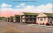 Vintage Postcard Company Street Camp Robert's California Army Training Center
