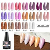 6Pcs MEET ACROSS UV Gel Nail Polish Soak Off Top Coat Spring Color Gel Varnish