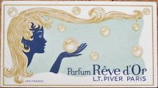 Perfume Card 1930s Art Deco: Parfum Reve d'Or - L. T. Piver - Paris, France