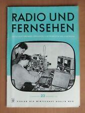 DDR Zeitschrift Radio Fernsehen 1957 Mittelsuper Potsdam von Stern Radio Sabafon