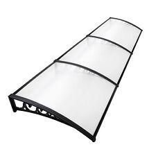 DIY Window Door Awning Cover Transparent 100 X 300cm UV Rain Outdoor Sun Shield