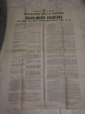 WW2 PNF MANIFESTO ARRUOLAMENTO DEL REGIO ESERCITO DI ALLIEVI SPECIALIZZATI 1938