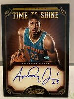 2012-13 ANTHONY Davis RC AuTo ON CaRd TREASURES TiMe TO ShinE 15/49!ROOKIE FuLL