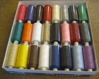MOON POLYSTER THREADS SEWING MACHINE COTTON 10 x 1000yds ASSORTED COLOURS