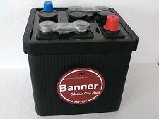Oldtimerbatterie  BANNER 06611    6V  66Ah  für Oldtimer Bleibrüken Retro Optik