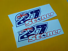 CASEY STONER # 27 Helmet Motorcycle Car Stickers 2 off 140mm