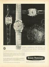 1961 Girard Perregaux Mens Wrist & Pocket 14kt Gold Watch  PRINT AD