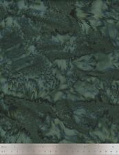 Hoffman Fabrics, 1895 Bali Watercolors, Dublin, Batik Fabric in Dark Green