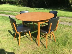 Vintage Formica Kitchen Table & 4 Chairs 1960s Guildform PHG & Sons Guildford