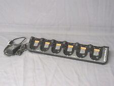 Genuine Motorola Db40-160421000F Ite 6 Slot Radio Battery Charger Dock w/ Ac