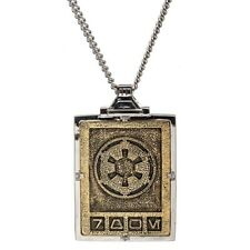 Yellow Gold Star Wars The Mandalorian RockLove Imperial Credit Necklace