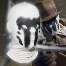 Rorschach Mask Print Inkblot Watchman Balaclava Cosplay Costume White Hood Mask