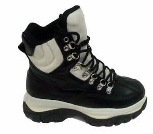 Plateau Sneaker Boots Schuhe Stiefeletten Outdoor Boots Schwarz 3549 Weiss Gr 37