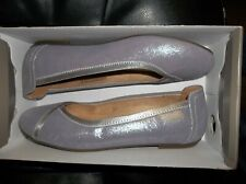 NIB Womens Size 7.5 Vionic Spark Caroll Pewter Ballet Flats Shoes New $120