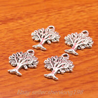 50 Pieces 22*17mm Charms Life Tree Pandent Tibetan Silver Jewelry Necklace 7349E