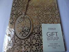 Gold Foil Gift Wrap......1 Sheet & Tag....70 cm x 1 m