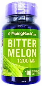 1200mg Bitter Melon Fruit Extract 100 Capsules Herbal Dietary Supplement Non GMO