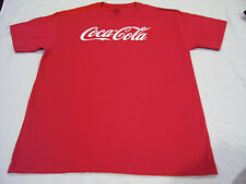 Coca Cola T Shirt White on Red Classic Logo Size M Adult Medium SHARP LOOKING!