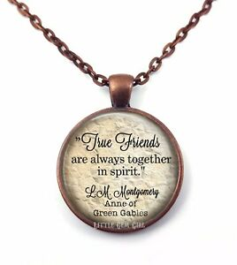 Anne of Green Gables True Friends Friendship Necklace Pendant or Key Chain Charm