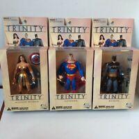 SUPERMAN BATMAN WONDER WOMAN TRINITY action figure DC COMICS DIRECT 2008
