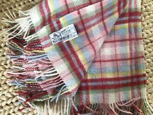 IKEA Rosali Multiruta Wool Blanket Throw CATH KIDSTON Plaid Fringe TWIN SIZE