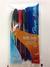 New Pack of 10 Paper Mate Inkjoy 100 Stick Ball point Pens Ball Point Assorted