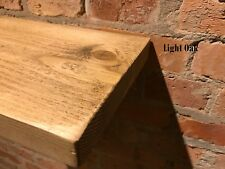 "Floating Wood Shelf Rustic Chunky Reclaimed Timber Shelves 8"" Deep Handmade"